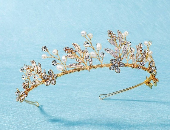 The Golden Floral Tiara
