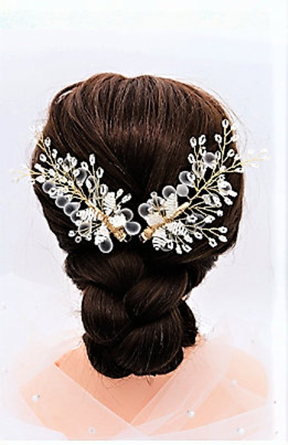 The Cascading Crystal Bridal Hair Accessory Set