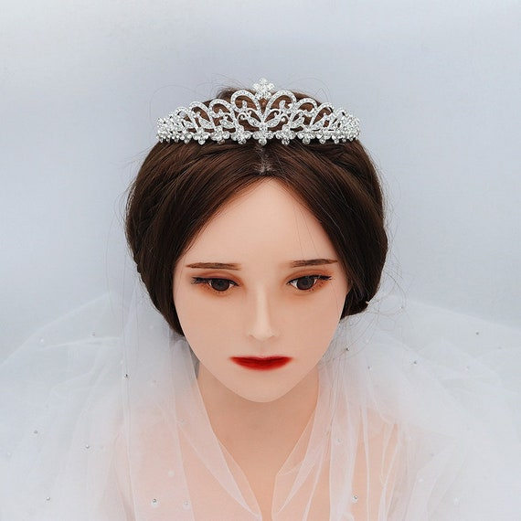 The Floral Garden Rhinestone Bridal Tiara