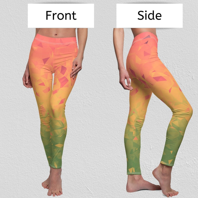 Rainbow Leggings  Yoga Pants  Ombre Leggings for Women image 0