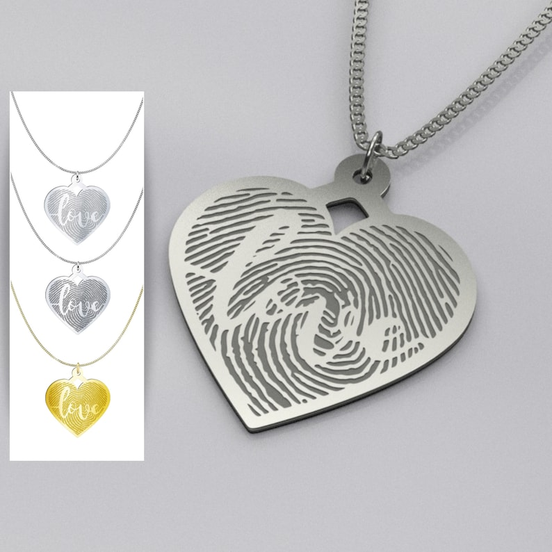 Heart Love Sterling Silver Necklace  Solid Silver Nickel Free image 0