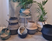 Belly Basket 7 Styles Seagrass Water Hyacinth Storage Planter Wicker Indoor Planter Plant Holder Home Decor Study