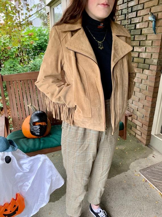 Vintage Gallery fringe suede jacket
