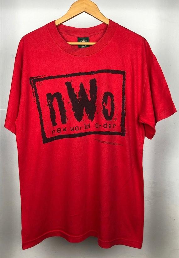rare new world order wrestling 90s shirt