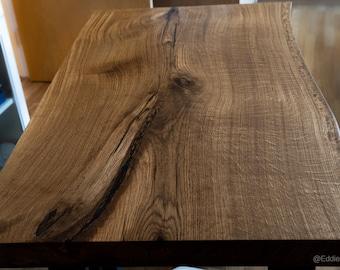 Live Edge Solid Hardwood Oak Epoxy Resin Table Top