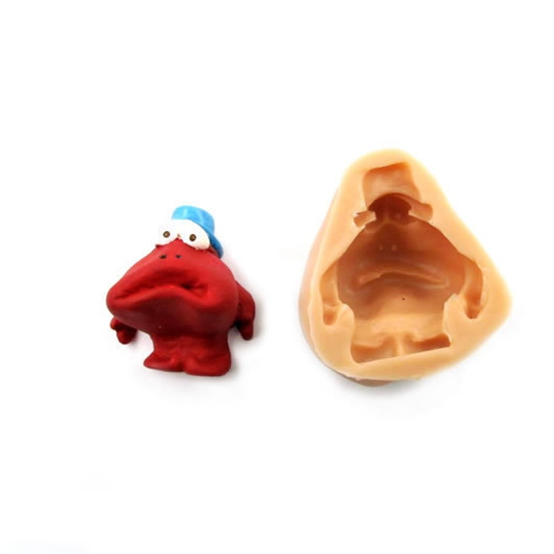 3D Cute Cartoon Character ClownMime Doodle FDA Certified Food Grade Silicone Mold