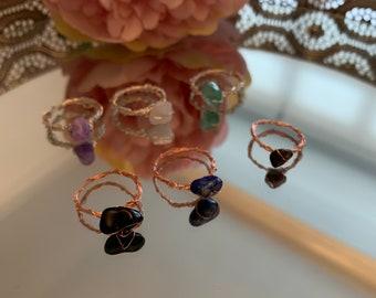 Healing Crystal rings