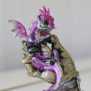 MASK /& PUPPET SET Dragon Puppet Black Leather Mask Dragon Figurine Fantasy Creature Doll Dragon Toy Dragon Statue Fantasy Sculpture