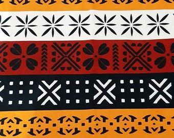 Brown bogolan fabric
