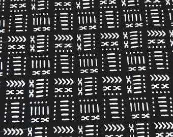 Black black bogolan fabric