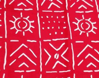 White red bogolan fabric