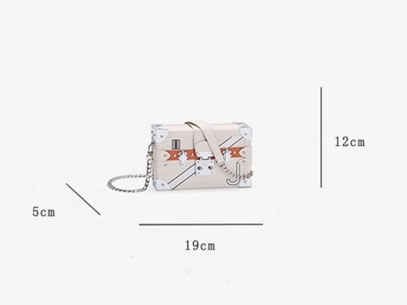 casual or formal rectangular PU purse bag for gift Designer version women box handbag