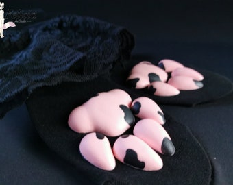 DIY Pads for cosplay sqishy silicone fursuit Small paw pads for the socks silicone paw pads