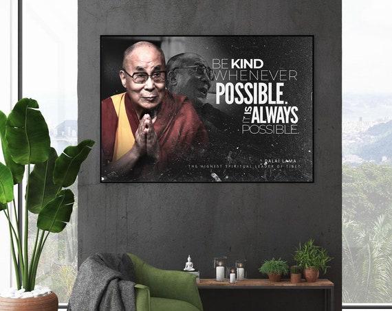 Dalai Lama Framed Canvas Wall Art Motivation Wall Art Decor Abstract Modern Wall Art Vintage Wall Art Modern Wall Art, Framed Ready-To-Hang