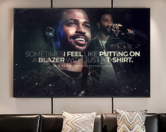 Big Sean Quote Album Poster, Hypebeast Poster, Hip Hop Poster, Urban Wall Art, Music Posters, Famous Hip Hop Artist, Framed Wall Decor Gift