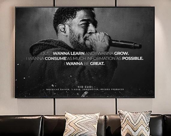 Kid Cudi Album History Poster, Hypebeast Poster, Hip Hop Poster, Urban Wall Art, Yeezy Wall Art, Music Posters, Kid Cudi Quote Art Decor