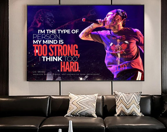 Lil Skies • Album History Poster, Hypebeast Poster, Hip Hop Poster, Urban Wall Art, Framed Wall Art, Music Posters, Rapper Poster, Lyric Art