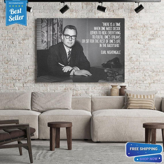Smart Earl Nightingale/ Perfect Art Print Wall Home Decor - Gift For Men, Gift For Her, Printable Wall Art Gift, Framed Ready-To-Hang