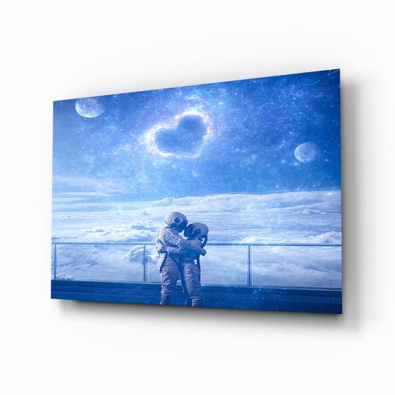 Premium Wall Arts - Cosmic Energy - Housewarming Gift - Exclusive Home Decor - Glass Art - Blue Wall Art - Interior Design - Home Decor