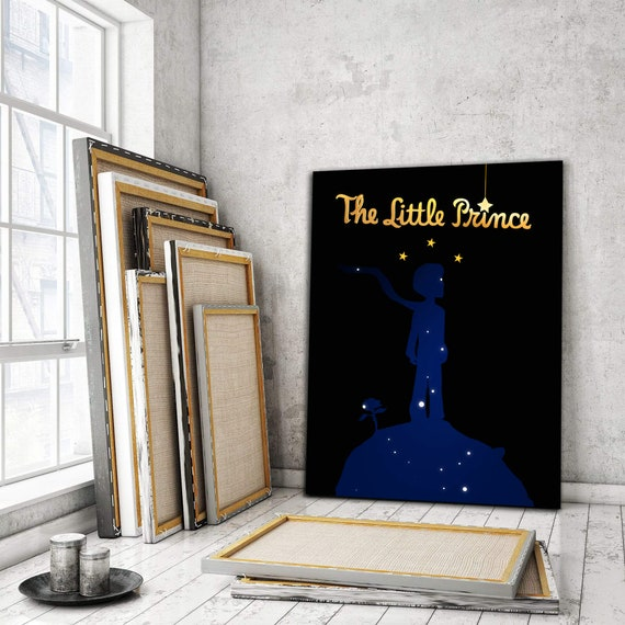 The Little Prince Home Decor Wall Art | Inspiration Wall Art For Kids Room | Canvas Wall Art | The Little Prince, Framed Ready-To-Hang