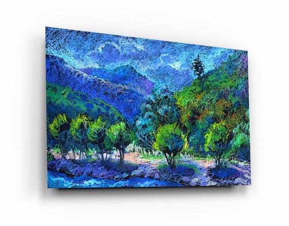 Nature Painting Tempered Glass Printing Wall Art , Natural And Vivid Wall Decor , Modern Wall Art, Extra Large Wall Art, Nature. Fine Art