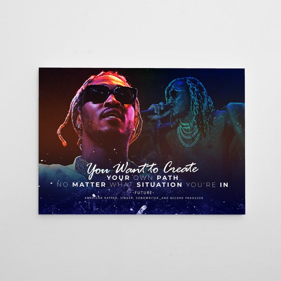 Future Hip Hop Album History Poster, Hypebeast Poster, Hip Hop Poster, Urban Wall Art, Music Posters, Future Rapper Framed Wall Decor Quote