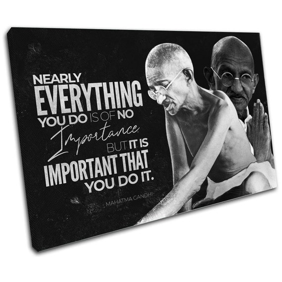 Mahatma Gandhi Legendary Indian Activist Motivational Quote, Quote Print, Printable Wall Art, office art, Gandhi, Framed Ready-To-Hang