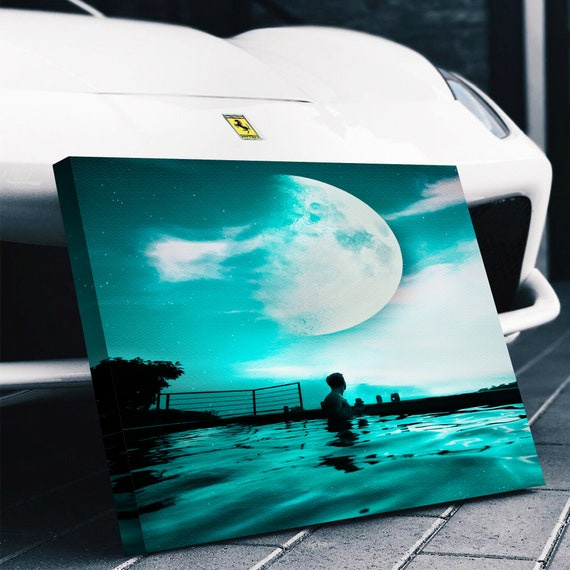 The Moon Canvas Set - Wall Art- Poster - Home Decor - Artwork - Print - Gallery Wrap - Framed - Custom Prints, Framed Ready-To-Hang