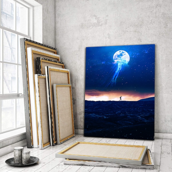 Inspirational Abstract Artwork | Jellymoon | Personalized Gift | Home decor wall art, for Office, for Home, for Work, Framed Ready-To-Hang