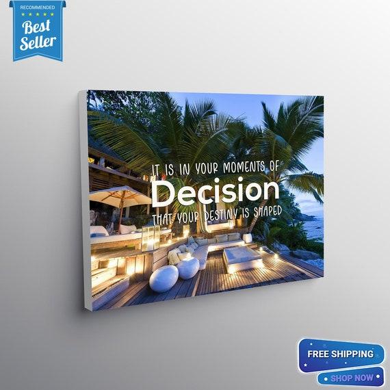 Tony Robbins Quote / Dream Home Decor • Wall Art Canvas Prints / Office Decor / Inspirational Art / Custom, Framed Ready-To-Hang