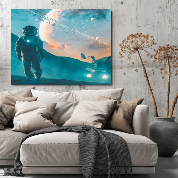 Office, Mancave, Basement, Garage, Mens Gift Home Decor Wall Art   Inspirational Wall Art For Kids Room   Canvas Art, Framed Ready-To-Hang