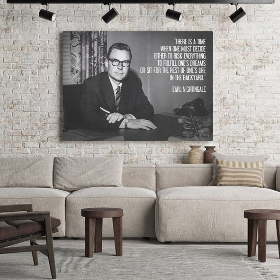 Smart Earl Nightingale/ Perfect Art Print Wall Home Decor - Gift For Men, Gift For Her, Printable Wall Art Gift Poster (Canvas) Personalized