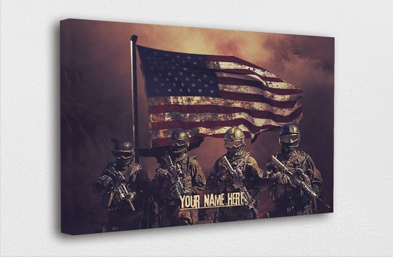 """Custom Military Wall Art """"Enter Your Name"""" Sign Army 