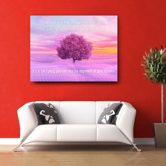 Abraham Hicks Home Decor Wall Art   Inspiration Wall Art For Office, Kids Canvas Wall Art Ask And It Is Given, Framed Ready-To-Hang
