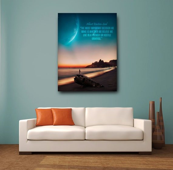 Albert Einstein Famous Framed Wall Art, About our Universe | Gift for him | Personalized gift - Printable wall art, Framed Ready-To-Hang