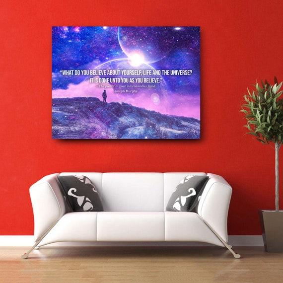 Modern Interior Design Imaginative Art • Customized Canvas Prints • Beautiful Joseph Murphy Quote / Printable Wall Art Framed Ready-To-Hang