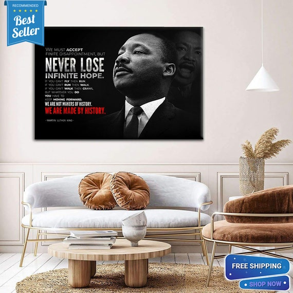 Civil Rights Pioneer Wall Art Decor Framed Print, 24x36 Textured Canvas or Poster | African American Political Figure- Framed Ready-To-Hang