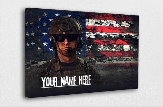 "Custom Military Wall Art ""Enter Your Name"" Sign Army | Navy | USMC | Air Force | Coast Guard"