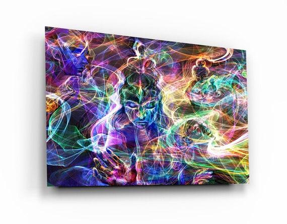 Tempered Glass Printing Wall Art , Meditation Art , Natural And Vivid Wall Decor , Modern Wall Art, Extra Large Wall Art, Premium. Fine Art
