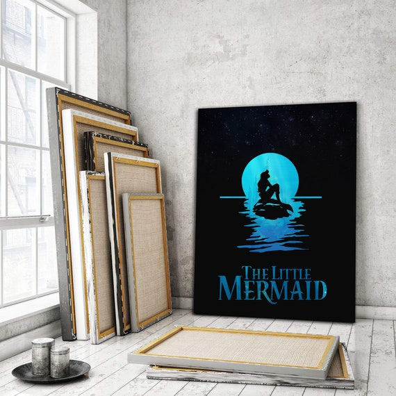 THE LITTLE MERMAID Home Inspiring Wall Art | Kids Room Art | The Little Mermaid Design | Art Decor | Personalized, Framed Ready-To-Hang