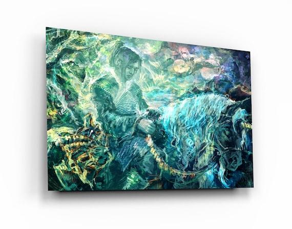 Premium Glass Wall Arts - Spirit Guide - Angel Gift - Exclusive Home Decor - Modern Glass Art - Wall Art - Interior Design - Home Decor