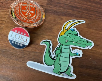 Alligator Loki - Sticker