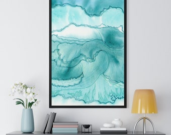 Framed Beachy Watercolor Print | Watercolor Print | Wall Art | Wall Decor | Beachy Decor | Beachy Art | Gift | Birthday Gift