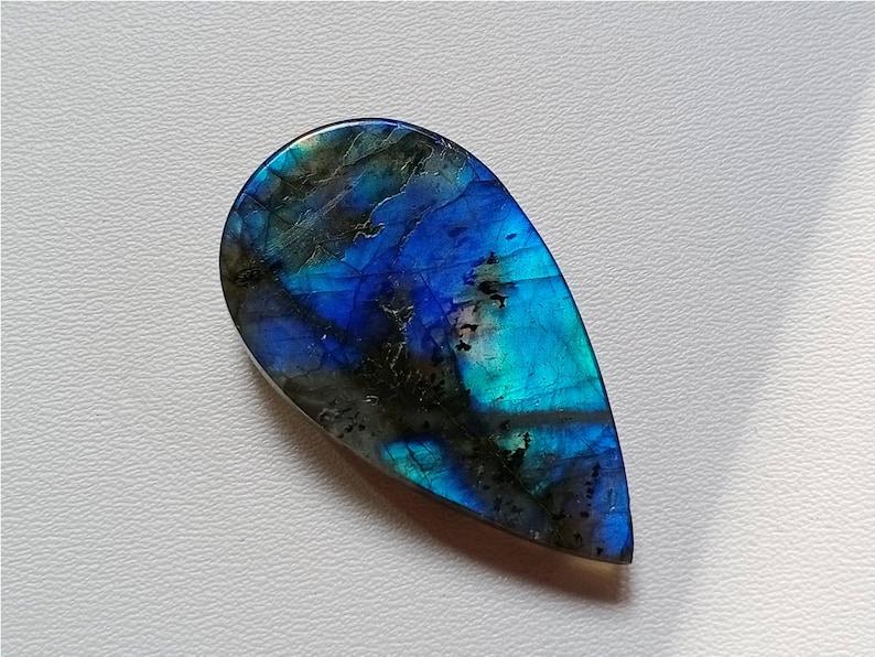 Blue Labradorite Cabochon Necklace
