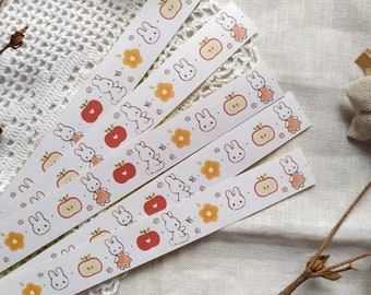 Apple Bunnies Sample Tape Matte Sticker Paper