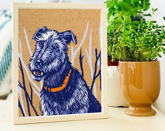 Dog Birthday Gift, Personalized Present for Dog Mom, Pet Drawing from Photo, Dog Lover Gift, Custom Hand Drawn Portrait, Dog Person Gift