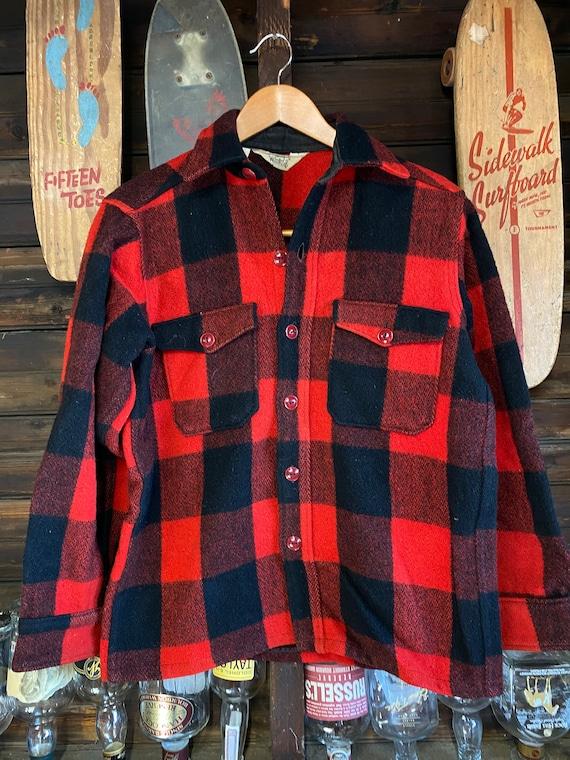 1960's Vintage Woolrich Buffalo Plaid Wool Shirt J