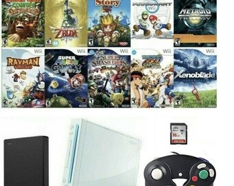 Modded Nintendo Wii Homebrew with 149 Wii + 213 GC Games + Thousands of Roms + Wii2HDMI Convertor