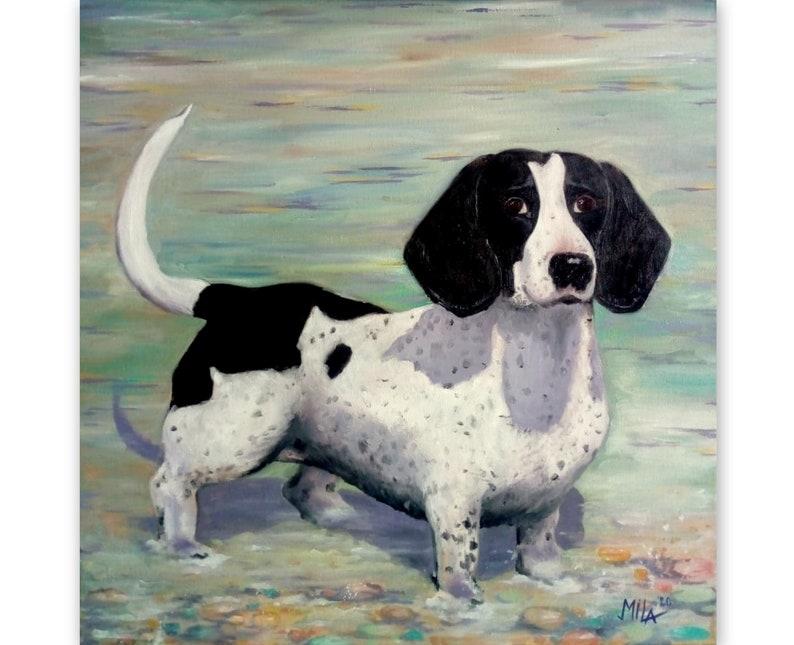 Pet portrait from photo   Original Oil Canvas  Custom pet portrait   Pop Art Portrait Painting   Custom gift  Commision Portrait