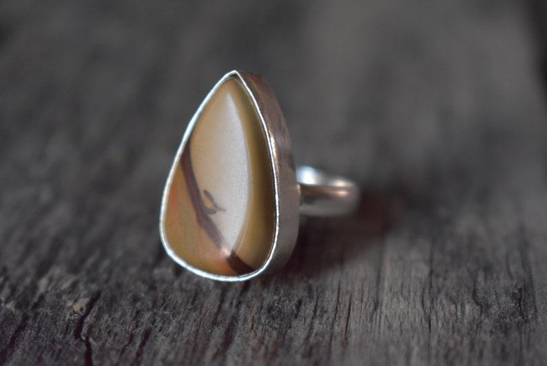 Statement ring gift for her Code 41 925 sterling silver ring Jasper silver ring jasper ring Polychrome jasper ring